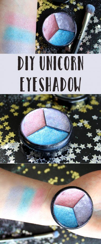 scented diy unicorn eyeshadow   tri color pressed palette
