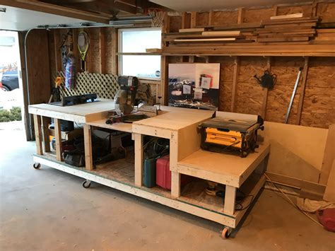 mobile workbench  table  outfeed mitre station