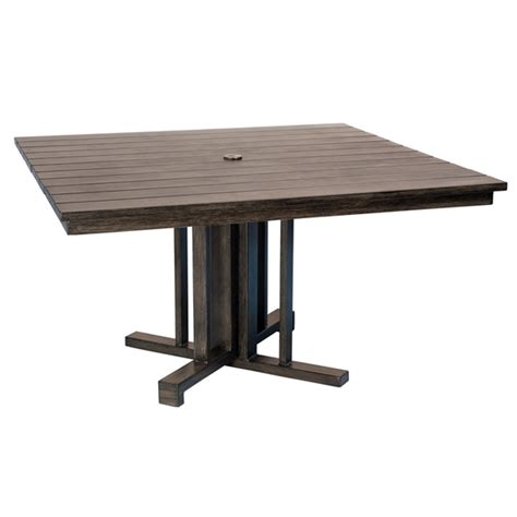 woodard augusta woodlands 54 inch square dining table