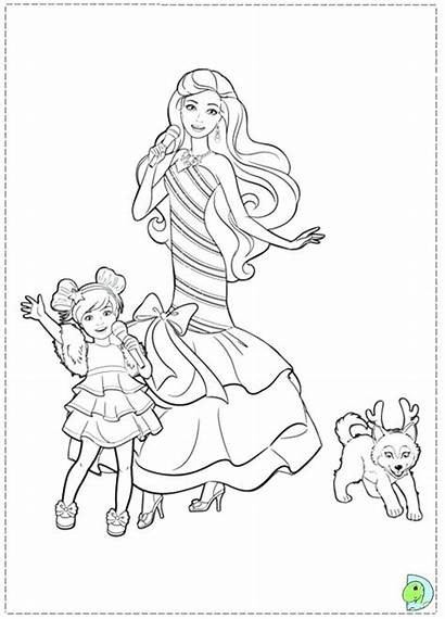 Barbie Coloring Pages Xbox Christmas Chelsea Carol