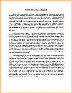 personal statement master application sample format