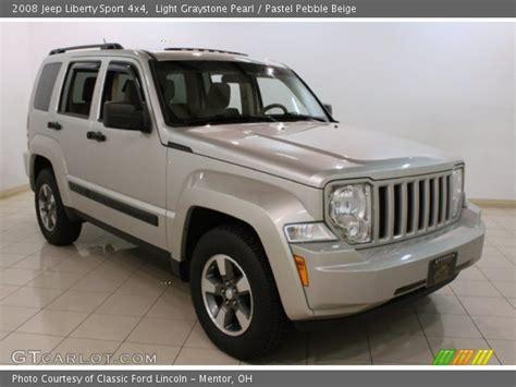 beige jeep liberty light graystone pearl 2008 jeep liberty sport 4x4