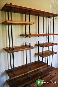Etagere Style Industriel : etag re en bois style industriel d co diy industriel pinterest tag re bois mobilier de ~ Nature-et-papiers.com Idées de Décoration