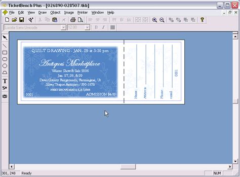 Publisher Ticket Template by Raffle Tickets Publisher Software