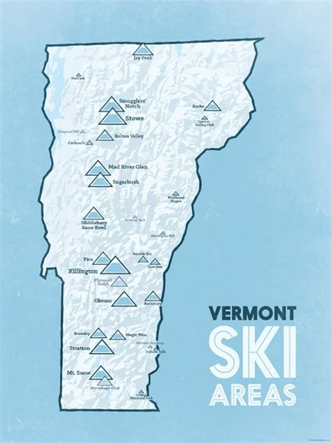 vermont resorts ski map poster resort skiing vt maps state vail most bestmapsever area buys hills lodge sold