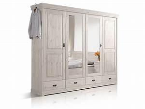 Massivholz Kleiderschrank Weiß : richard ii massivholz kleiderschrank kiefer 4 t rig kiefer weiss ~ A.2002-acura-tl-radio.info Haus und Dekorationen