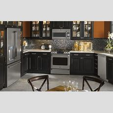 Black And Orange Kitchen Photo  Ge Appliances