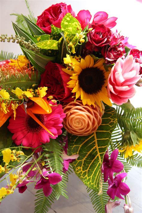 flower magician tropical sunshine wedding bouquet