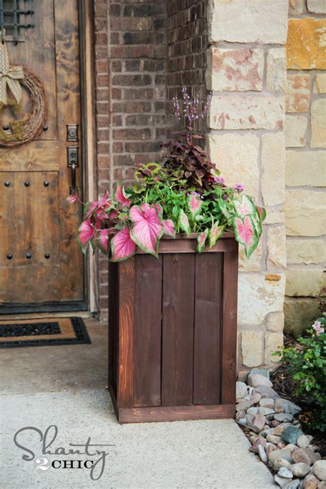 planter box plans cedar shanty  chic