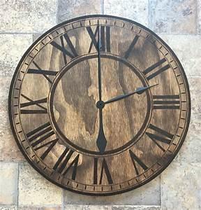 Diy, Woodburned, Clock
