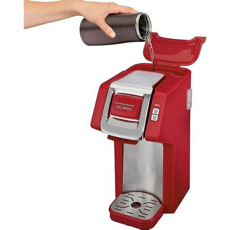 It is so simple to use. Hamilton Beach FlexBrew Single-Serve Coffee Maker RED 49945 - Best Buy