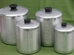 Kitchen Canister Sets Vintage Kromex Vintage Spun Aluminum Canister Jar Set Vintage Kitchen Canisters