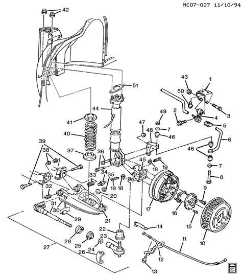 1996 Cadillac Rear Suspension Diagram by Suspension Rear