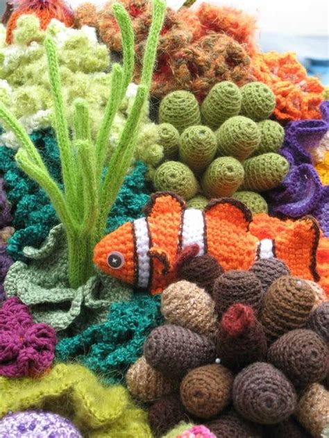 images  crochet coral reef  pinterest coral