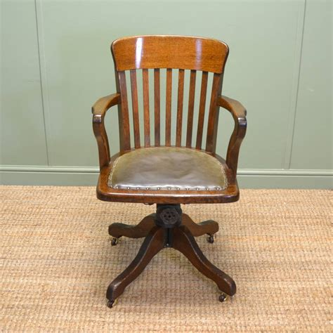 old style wooden desk vintage swivel desk chair chairs seating