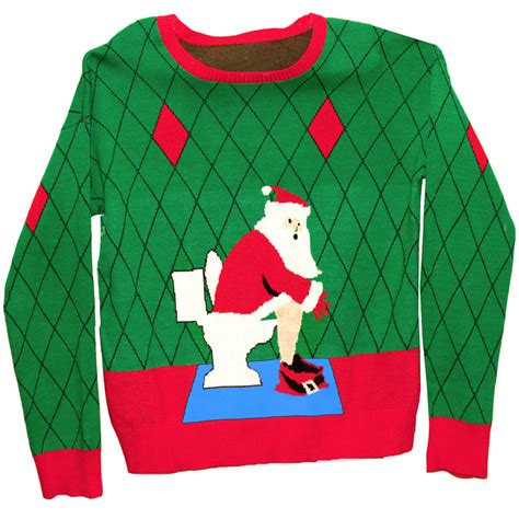 ugly christmas sweater toilet santa 1st edition stupid com