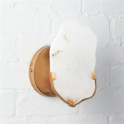 raw edge alabaster wall sconce reviews cb2
