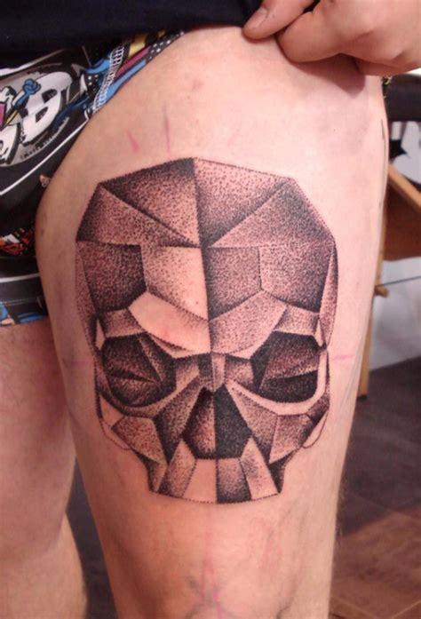 geometric tattoo skull ideas flawssy