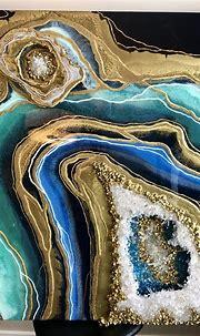 3d geode art- masterclass   Geode art, Resin wall art, Geode