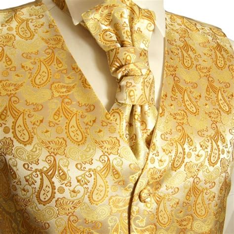 gold paisley tuxedo vest sets mens vests wedding vests