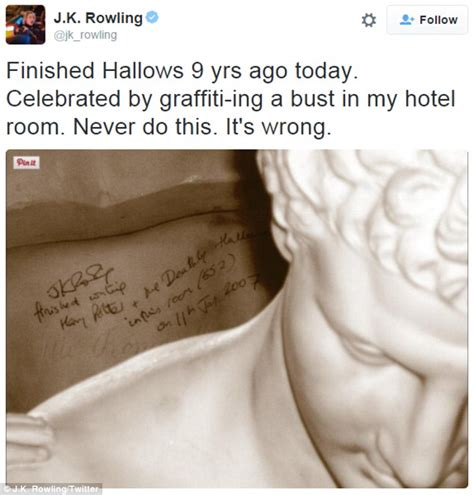 Jk Rowling Celebrated Finishing Harry Potter Series By