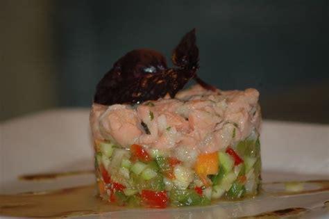 balade en cuisine tartare légumes et saumon en duo balade en cuisine
