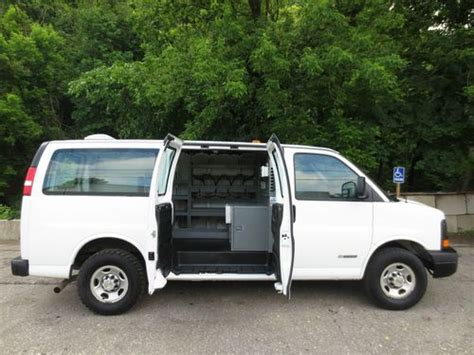 sell   chevy express  utility cargo van