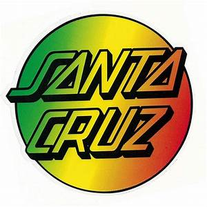 Santa Cruz Skateboards Santa Cruz Rasta Dot Sticker ...