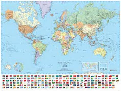 Carte Du Monde Avec Capitales Pdf by Collectif Carte Murale Monde Politique Plastifi 233 E