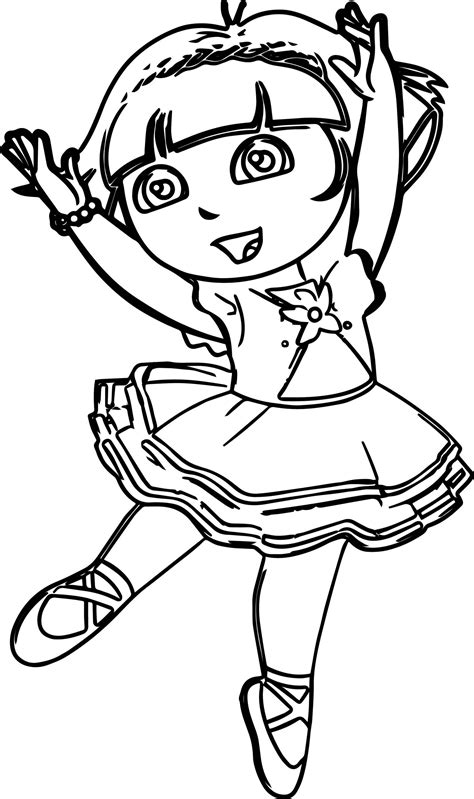 Kleurplaat Ballerina by The Explorer Ballerina Coloring Page