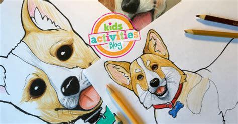 corgi coloring pages  kids
