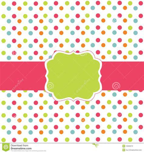polka dot design polka dot design card stock photos image 16090373