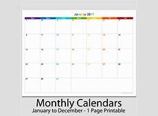 Blank Printable Monthly Calendar 2017 2018 Calendar