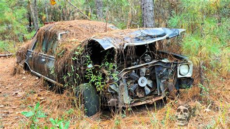 Abandoned Vehicles In The Woods In America 2016 Abandoned