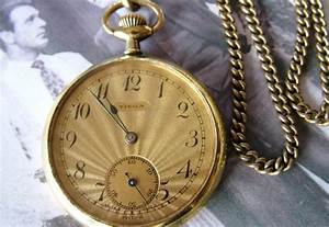 Antiques Atlas - Art Deco Tièga Pocket Watch With Chain