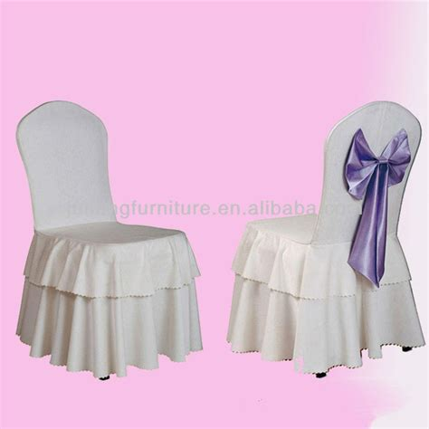 cheap polyester striped ruffled wedding chair cover