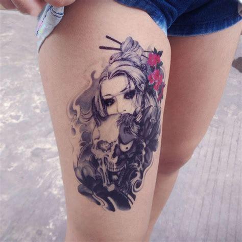 tatouage temporaire femme  demon  school kolawi