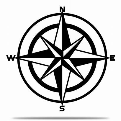 Compass Nautical Watercolor Motorcity Metal