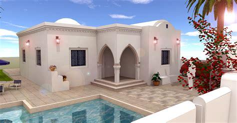 plan de maison tunisienne