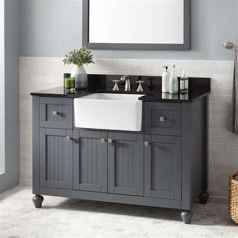 What Is A Bathroom Vanity by 48 Quot Nellie Farmhouse Sink Vanity Gray Bathroom