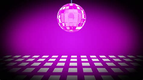 disco ball floor l disco ball and purple dance floor loop hd stock footage