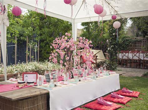 karas party ideas cherry blossom spa themed birthday party