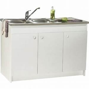 Meuble Sous Evier 120 : meuble sous vier d cliq d plier 120 x 60 cm 3 ~ Nature-et-papiers.com Idées de Décoration