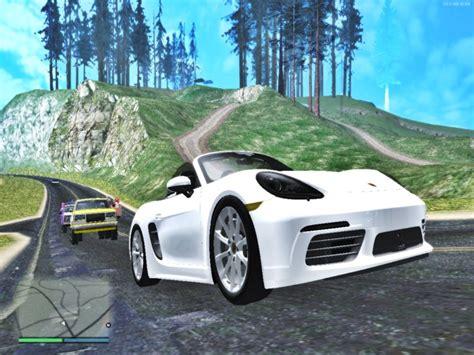 Porsche 718 Modification by Gta San Andreas Porsche 718 Boxster S Cabrio Mod