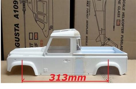 land rover pick  truck body shell  scale  mm