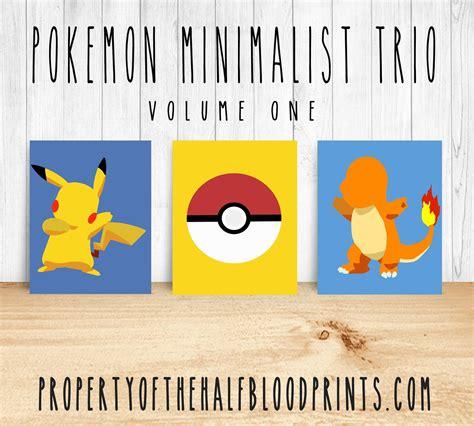 Pokemon Minimalist Trio  Diy´s For Sale NiÑos Pinterest