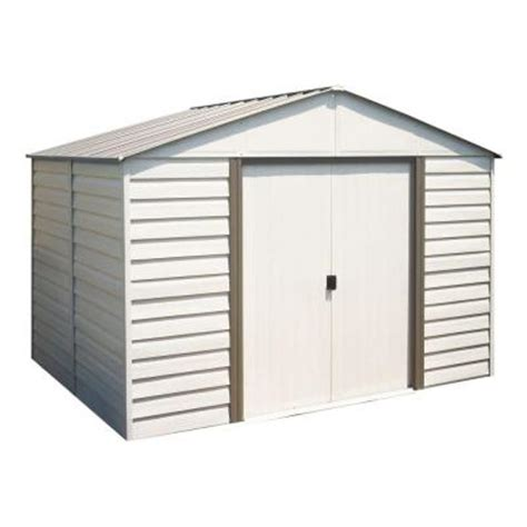 Metal Storage Shed Home Depot by Arrow Milford 10 Ft X 8 Ft Vinyl Coated Steel Storage