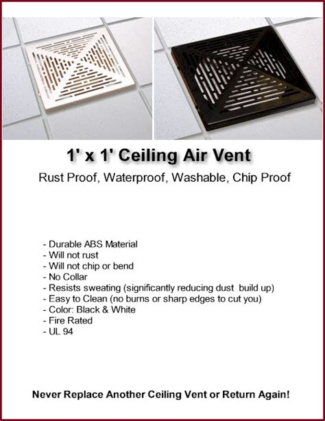 Drop Ceiling Air Vent Deflector by Ceiling Vents Returns Deflectors Diverters