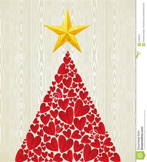 christmas love heart pine tree stock image image
