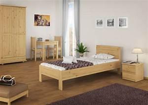 Bett Holz 90x200 : hotelbett einzelbett g stebett 90x200 massivholzbett kiefer natur mit rollrost ~ Markanthonyermac.com Haus und Dekorationen